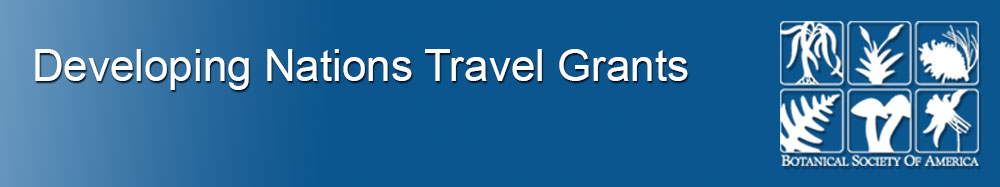 Developing Nations Travel Grants