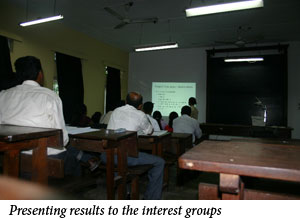 Uromi Goodale, Presenting results to the interest groups