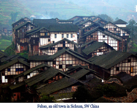 Wenchi Jin, Fubao, an old town in Sichuan, SW China