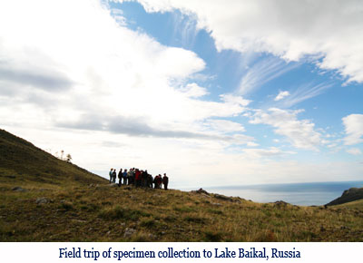 Wenchi Jin, Field trip of specimen collection to Lake Baikal, Russia