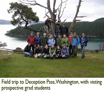 Patricia Lu-Irving, Field trip to Deception Pass, Washington, with visting prospective grad students