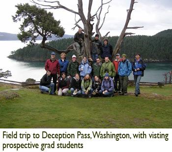 Patricia Lu-Irving, Field trip to Deception Pass, Washington, with visting prospective grad students